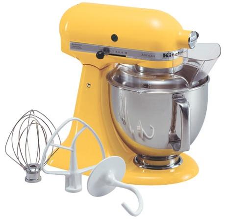 Kitchen Aid Artisan 5 Quart Stand Mixer Buttercup Ksm150psbf