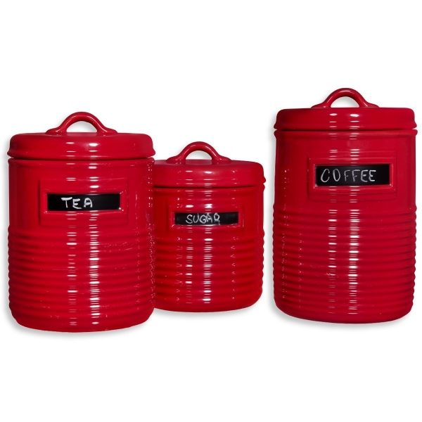 Home Essentials Red Canister Set